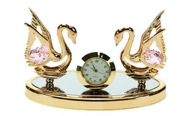 Декоративная фигурка с часами Лебеди