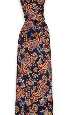 Красно-синий галстук Fumagalli из шёлка