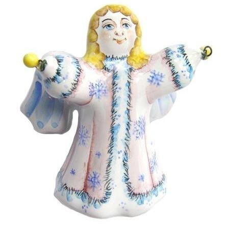 Ёлочная игрушка Ангел с бубенчиками