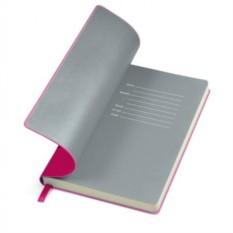 Серый бизнес-блокнот А5 Funky с цветным форзацем