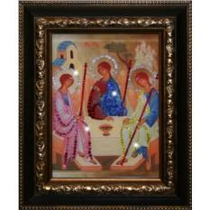 Икона Святой Троицы с кристаллами Swarovski