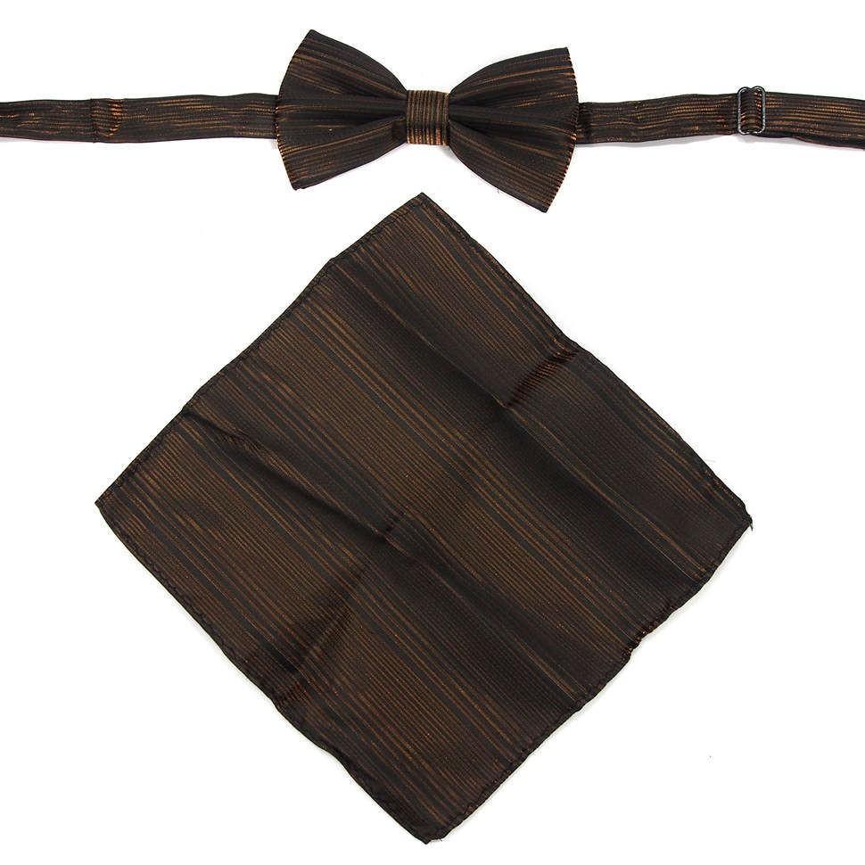 Набор (бабочка с платком в темно-золотых тонах)