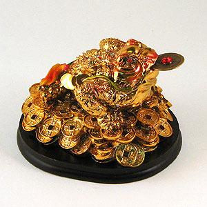 Фигура на подставке «Жаба на деньгах»