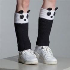 Вязаные гетры Панды