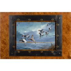 Картина из кожи Летящие утки ElolE Interior