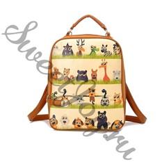 Кожаный рюкзак Cartoon