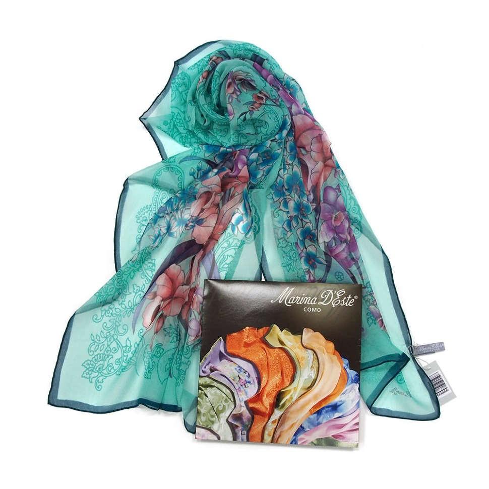 Оригинальный цветочный шарф Tiffany Marina D'este