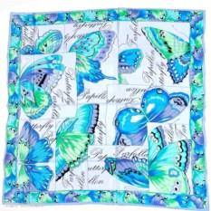 Платок с голубыми бабочками