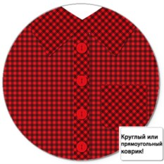Коврик для мыши Рубашка в клетку