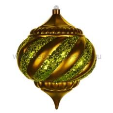 Елочная игрушка Алмаз золотого цвета