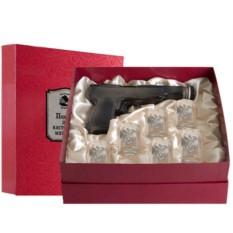 Набор штоф-пистолет и 6 рюмок Настоящий мужчина