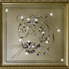 Картина с кристаллами Swarovski Взгляд тигра