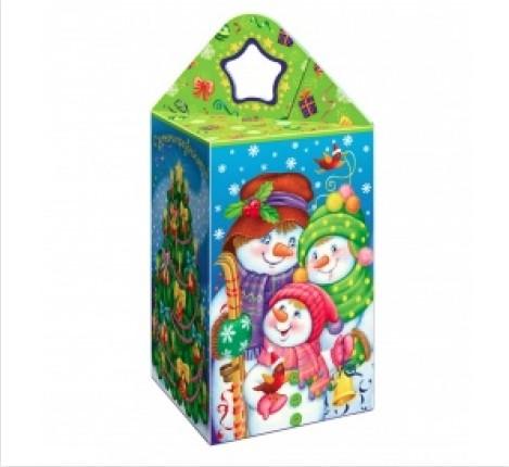 Сладкий новогодний подарок Семейка снеговиков
