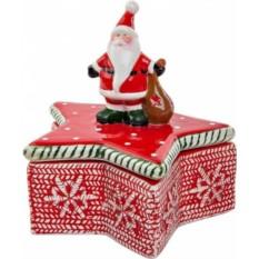Шкатулка Дед Мороз на звезде от Mister Christmas