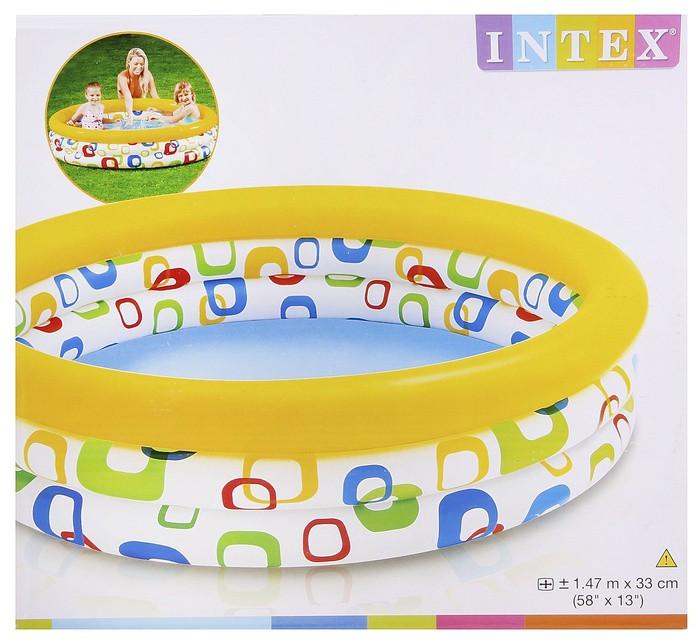 Надувной бассейн Волны, для детей от 3 лет