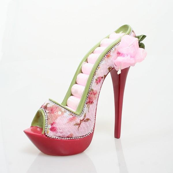Подставка для колец Туфелька с розами