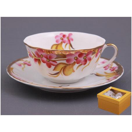 Чайный набор на 1 персону 2 пр. «Ветка сакуры»