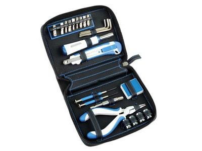 Набор инструментов для дома, 24 предмета, черный/синий
