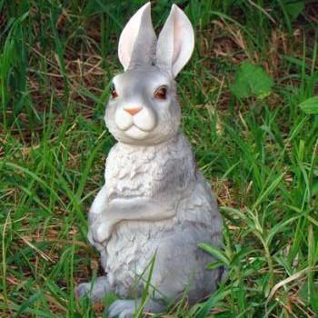 Заяц из гипса для сада своими руками