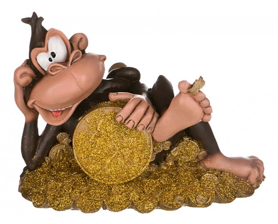 Копилка Обезьяна с монетами