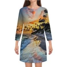Платье с рукавами Остров