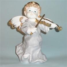 Статуэтка ангел Скрипач с облаков