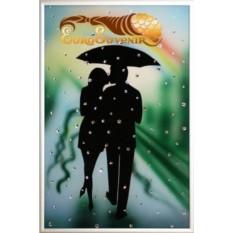 Картина с кристаллами Swarovski Влюбленные под радугой