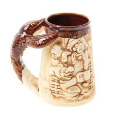 Кружка для пива Рак (прикол) шамот