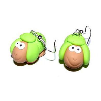 Серьги «Зелёные Овечки»