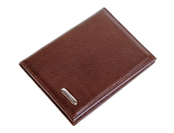 Бумажник водителя S.Quire, темно-коричневая кожа