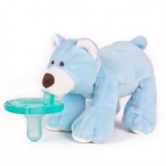 Соска и держатель Голубой Мишка WubbaNub ®