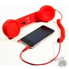 Ретро-трубка для мобильного телефона (красная)