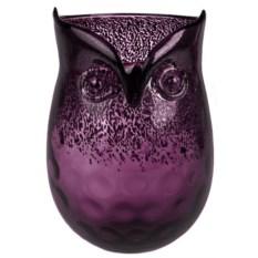 Фиолетовая ваза для цветов Сова