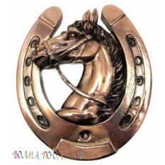 Подкова с лошадью