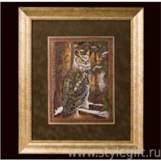 Панно-гравюра Филин - символ мудрости