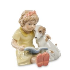 Фигурка Девочка с собачкой от Pavone