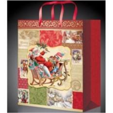 Новогодний пакет Санта в санях