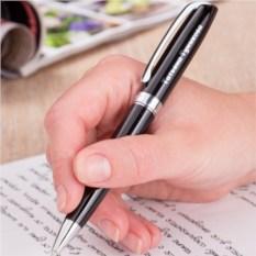 Ручка Легенда (чёрная с серебристыми элементами)