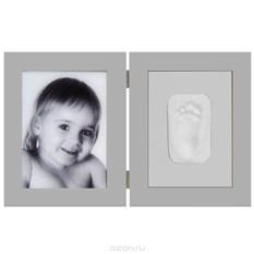 Набор для изготовления слепка Baby Art Print, с двойной рамкой, цвет: шоколад