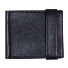 Черное с красной прошивкой портмоне Rich