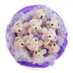Букет из игрушек Медвежата (9штук)