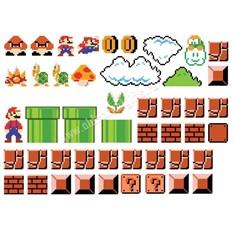 Виниловые наклейки на стену - Марио