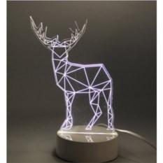 3D лампа Олень
