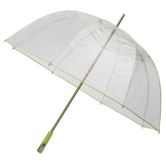 Зонт-трость прозрачный с глубоким куполом