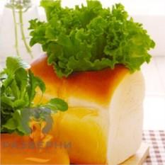 Буханка хлеба Сочный салат-латук