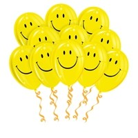 Облако из 25 латексных шаров Смайл