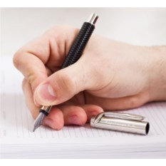 Черная роллер-ручка с серебром 925 пробы «Советник»