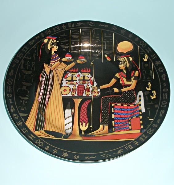 Сувенирная тарелка из Египта Тайны фараонов. Ночь