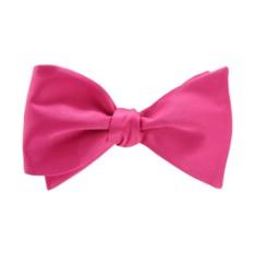 Розовая галстук-бабочка (самовяз)