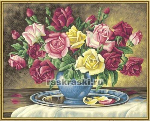 Раскраска по номерам Schipper Букет роз